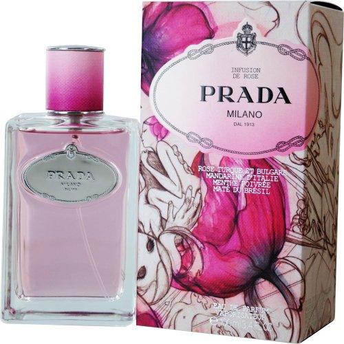 Prada Infusion de Rose Eau de Parfum Spray for Women, 3.4 Ounce
