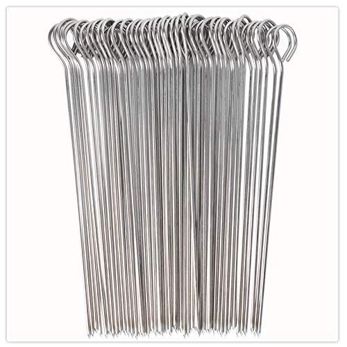 UCEC 50 Brochetas de Acero Inoxidable, 20 cm,Pinchos Parrilla y Aperitivos, Reutilizables