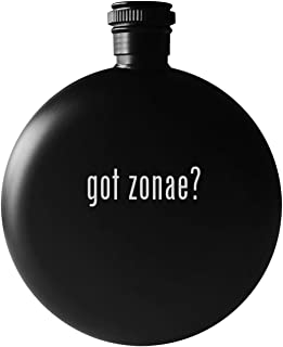 got zonae? - 5oz Round Drinking Alcohol Flask, Matte Black