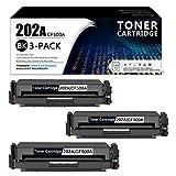 Compatible202A | CF500A TonerCartridge ReplacementforHP Laserjet Pro MFP M280nw(T6B80A) M281fdn(T6B81A) M281fdw(T6B82A) M281cdw(T6B83A) Laserjet Pro M254nw(T6B59A) Printer (3-Black).