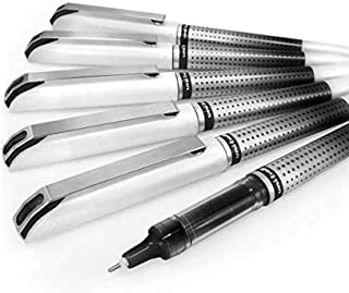 Uni-Ball UB-187S Vision Needle Rollerball Pen – 0.7mm Needle Point – Pack of 6 – Black