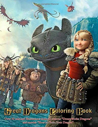 Great Dragons Coloring Book: Over 50 selected illustrations from all seasons