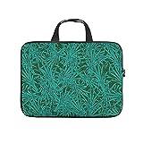 Bolsa para portátil de diseño tropical de la selva tropical hawaiana, resistente al desgaste, maletín de diseño para el trabajo, negocios