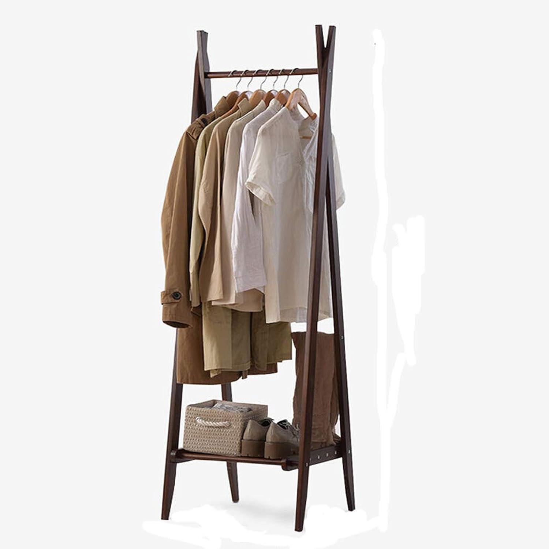 Standing Coat Racks Clothes Rack Solid Wood Coat Rack Foldable Bedroom Office Floor Hanger Modern About Hanger -0223 (color   Brown)