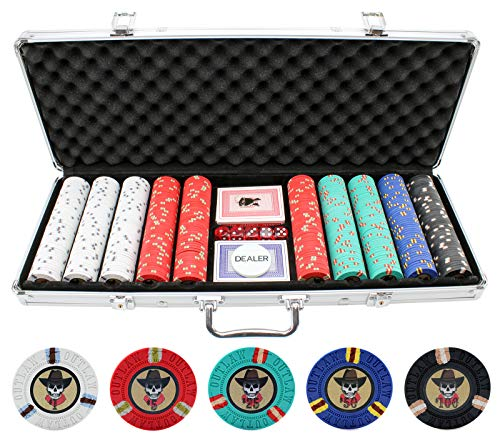 Versa Games 13g Outlaw Clay Poker Chips Set - 500 Piece Set