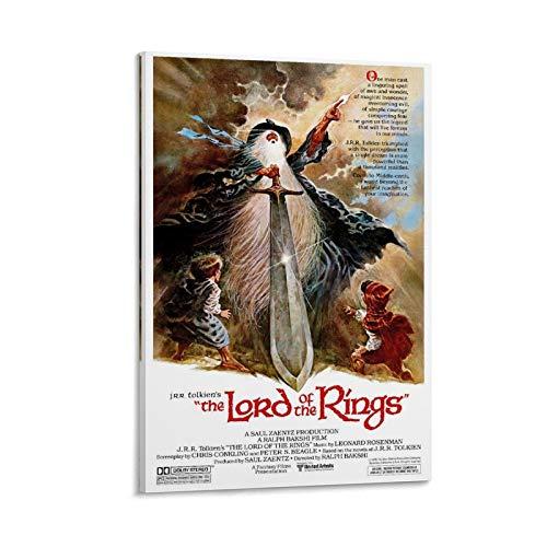 """Poster classico """"Il Signore degli Anelli"""" (1978) su tela e stampa artistica da parete, 60 x 90 cm"""
