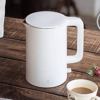 Electric Kettle 1.5L Auto Power-Off Protection Smart Water Boiler Instant Heating Stainless Steel Teapot Add UK Plug