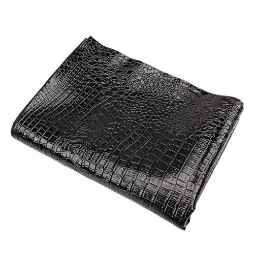 Wasserdicht Kunstleder Stoff als Bezugstoff zum Nähen und Beziehen, passend für Motorrad Sitzbezüge, UV-Schutz, Verschleißfest - Glänzend schwarz