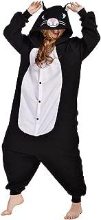 Unisex Adult Cat One- Piece Cosplay Animal Pajamas Halloween Costume