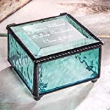 Graduation Gift Personalized Jewelry Box Engraved Glass Keepsake For High School Graduate Or College Grad Class Of 2021 Daughter, Granddaughter, Girl, Friend J Devlin Box 898 EB217-3 (Windsor Blue)