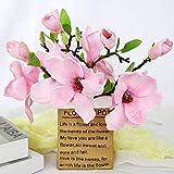 LAMF Ramo de flores artificiales de magnolia para boda, boda, boda, fiesta, hogar, oficina, jardín, novia, decoración de hortensias