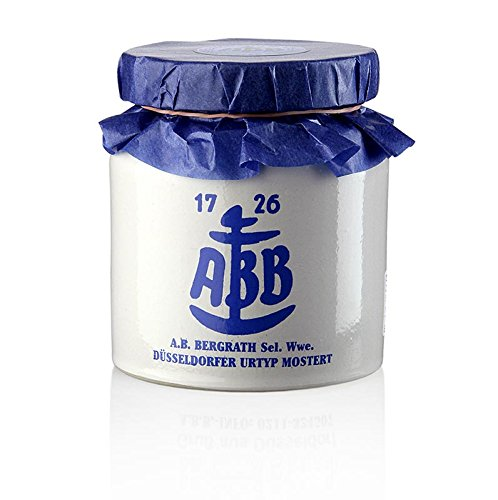 Düsseldorfer ABB-Senf - Das Original im Steinkrug, mittelscharf, 270 ml