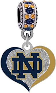 Final Touch Gifts Notre Dame University Charm Fits Most Bracelet Lines Including Pandora, Chamilia, Troll, Biagi, Zable, Kera, Personality, Reflections, Silverado and More …