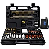 Universal Gun Cleaning Kit, Rifle Pistol Handgun Shotgun Shooting Gun Cleaning Kit Suitable for All Caliber - Gun Pad, Cotton mop, Bronze Bore Brush, Brass Jag, Brass Slotted Tips, Nylon Brushes