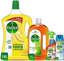 Dettol Super Saver Bundle - Lemon Floor Cleaner, Antiseptic Liquid, Kitchen Trigger and Disinfectant Spray