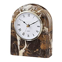 Designs by Marble Crafters CL40-BG Black & Gold Marble Desk Clock
