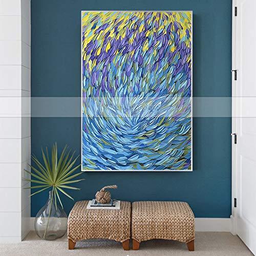 JXFFF 3D HD Printing Berühmte Picasso abstrakte Leinwand Ölgemälde Messer Ölgemälde Dekoration Wandkunst Bild für Familienzimmer Dezember50x80cm Rahmenlos