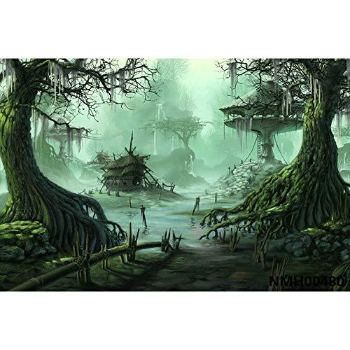 Cuento de Hadas País de Las Maravillas Bosque de ensueño Selva Naturaleza Paisaje Primavera Telón de Fondo Fotografía Fondo para Estudio fotográfico A23 9x6ft / 2.7x1.8m