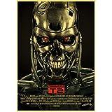 Pintura Sin Marco Películas Clásicas De Ciencia Ficción The Terminator Retro Poster Vintage Poster Decoración De La Pared Decoración De La Habitación A576 (50X70Cm) Sin Marco