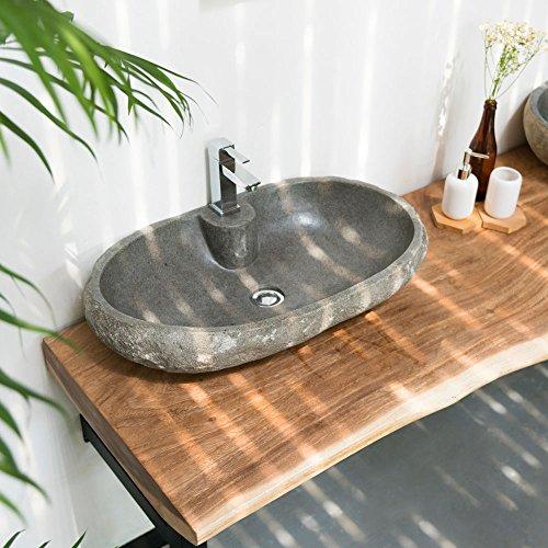 Naturstein-Waschbecken up Ablaufgarnitur,
