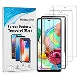 Weinstock-Science 3X Bruchsicheres Panzerglas für Samsung Galaxy Samsung Galaxy A71 Installationsrahmen Schutzfolie aus 9H Echt Glas Klar
