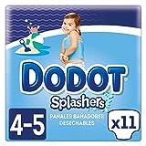 Dodot Splashers Talla 4, 11 Pañales Bañadores Desechables, 9-15kg, No Se Hinchan Y Fácil de quitar