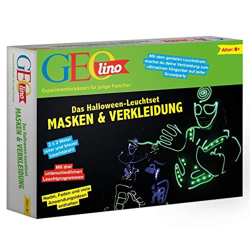 FRANZIS GEOlino Leuchtset Masken und Verkleidung | Der Hingucker auf jeder Halloween-Party | Inklusive LED-Leuchtdraht | Ab 8 Jahren