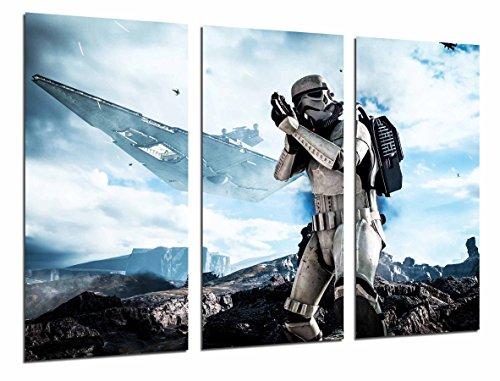 Cuadros Camara Fotográfico Star Wars Ejercito Darth Vader, Batalla Soldado Nave Tamaño total: 97 x 62 cm XXL, Multicolor
