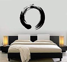 Etiqueta Engomada De La Pared Pegatina Vinilo Círculo Zen Símbolo Caligrafía Hogar Dormitorio Sala De Estar Decoración Del...