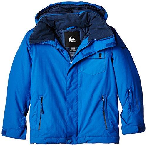 Quiksilver Jungen Schnee Jacke Mission Plain, Olympian Blue, 12