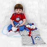 ZIYIUI Reborn Babys Junge Lebensechte 20 Zoll/50 cm Silikon Vinyl Reborn Toddlers Puppe Günstig...