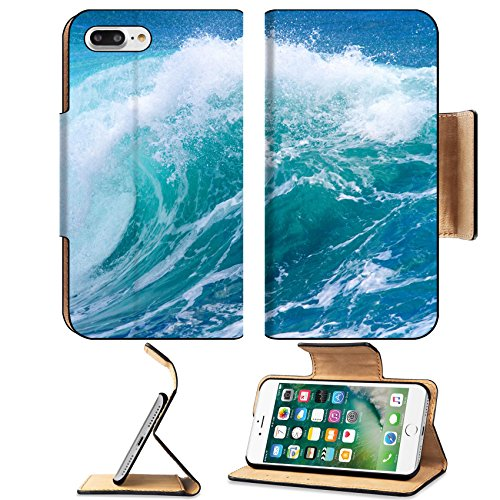 Liili Premium Apple iPhone 7 Plus Flip Pu Leather Wallet Case iPhone7 ID: 27578612 Picture of Ocean Wave Indian Ocean