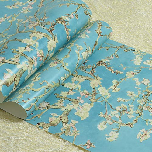LYC behanglijm Retro Van Gogh abrikozenbloesem Niet geweven behang voor de slaapkamer woonkamer ingang TV achtergrond decoratie 10 Mx 0,53 m/rol BZ0903