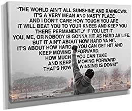 Rocky Balboa Speech Movie Canvas Wall Art Home Decor (60in x 40in Gallery Wrapped)