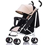 Cochecito de bebé creativo que absorbe los golpes, cochecito de bebé ultraligero, portátil, plegable, silla de paseo para niños de 0 a 3 años (color caqui)