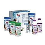 Alice's Garden Kit Complet Traitement de l'eau à l'oxygène Actif, Coffret d'entretien HTH pour Spa Gonflable