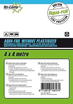 Bo-Camp - Aqua-Film bâche de sol - Sans plastifiants - 4 x 4 mètres - Noir