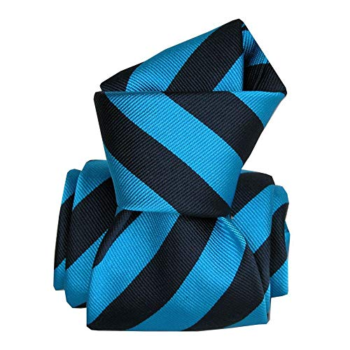 Segni et Disegni - Cravate Segni Disegni Luxe, Faite Main, Palma Bleu