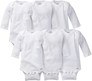 GERBER Baby Boys' 3-Pack Or 6-Pack Long-Sleeve Onesies Bodysuit