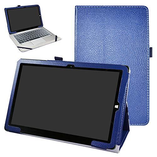 Bige Schutzhülle für Chuwi Hi10 X Tablet, PU-Leder, 2-fach klappbarer Ständer, Schutzhülle für Chuwi Hi10 X / hibook Hi10 Pro / hibook Hi10 25,7 cm (10,1 Zoll) Tablet-PC, Dunkelblau