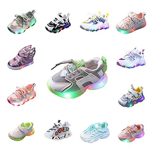 Turnschläppchen Mädchen LED Turnschuhe Jungen Leuchtschuhe Baby Kleinkind Schuhe Rutschfest Sportschuhe Klettverschluss Kinderschuhe Outdoor Atmungsaktive Sneaker