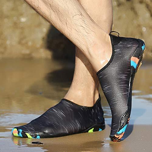 DECDEAL Homens Mulheres Sapatos de Água Esportes Secagem Rápida Com Os Pés Descalços para Natação Mergulho Surf Aqua Piscina Praia Andar Sapatos de Exercício de Yoga