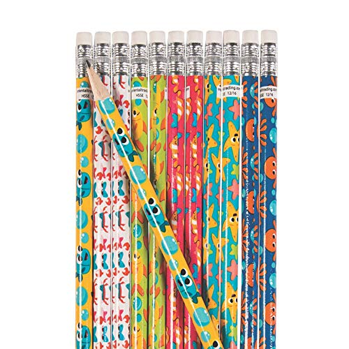 Fun Express Under The Sea Pencils - 24 Pieces - Educational and Learning Activities for Kids