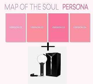BTS / 防弾少年団 / MAP OF THE SOUL : PERSONA 4アルバムセット + 4折りたたみポスター + 公式ペンライト[国内発送]