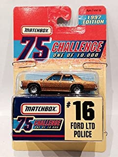 Matchbox Challenge 16 Gold Ford LTD Police MOC 1997