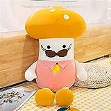 Lindo suave cabeza de seta almohada de juguete de felpa regalos de Navidad para niños y niñas de 23-40 cm