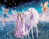 N\A Kits De Pintura por Números para Adultos - Kits De Regalo De Pintura Al Óleo DIY para Adultos Principiantes - Unicornio, Mago De La Mariposa