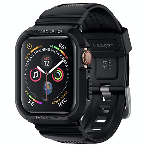 Spigen Rugged Armor PRO Compatibile con Apple Watch Custodia per 44mm Series Series 6/SE/5/4 - Nero