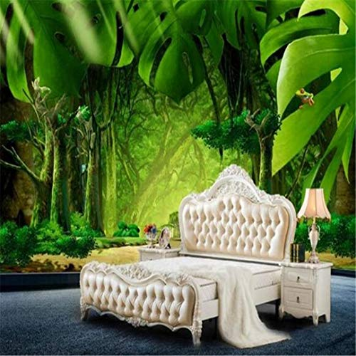 Behang aangepaste 3D fotobehang bed kamer muurschilderingen jungle banaan bladeren achtergrond schilderij milieuvriendelijk vlies behang voor wand 3D, 400 cm * 280 cm