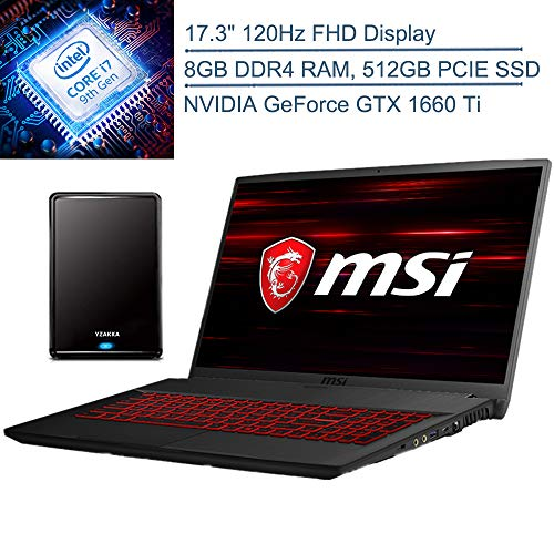 """9th Generation Intel Hexa-Core i7-9750H Processor @ 2.60GHz(6 Cores, 12M Cache, up to 4.50 GHz), Powerful 6-core, twelve-way processing performance. 17.3"""" FHD (1920x1080), 16:9, 120Hz, 45% NTSC, IPS-Level Display; NVIDIA GeForce GTX 1660 Ti 6GB GDDR6..."""